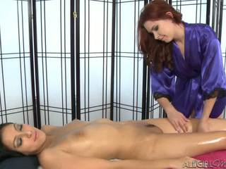 Melody Uses A Vibrator Giving Kimberly Gates A Deep Rub