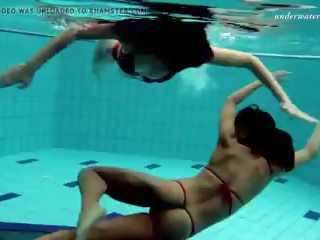 Lesbian Fun Underwater and Naked Stripping: Free HD Porn 51