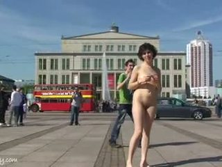 Crazy chick miriam naked on public streets