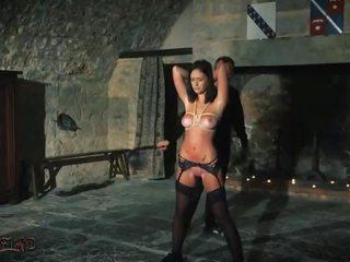 brunette, plezier sex toy film, mooi vibrator mov
