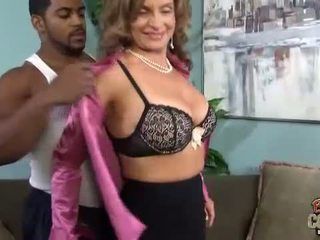 Interracial anal Creampie with Rebecca Bardoux