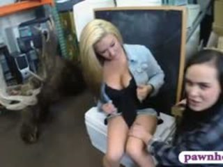 Lesbians Threesome Action With Pawn Dude To Earn Extra Money