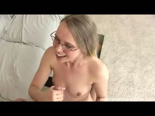 Slutty babe Anna Stevens gets her mouth creamed with jizz after a nice fuck