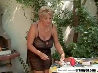 BBW Fucks Instead of Grilling, Free Granny Porn Video 1a