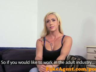 FakeAgent Big fake tits in casting facial - Porn Video 371