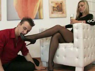foot fetish, femdom, nylon