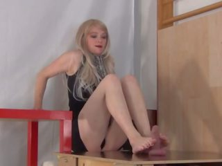 Ass Smothering Footjob, Free Blonde Porn Video 44