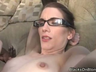 brunette does anal with hung blacks