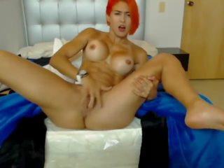 'andrea Gamboa' - Fit Latina Redhead Masturbates &...