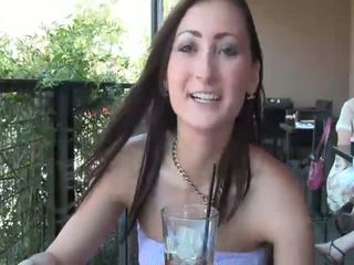 brunette posted, naked, flashing video