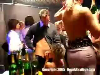 heet dronken, partij, een club