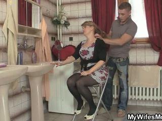 おばあちゃん, おばあちゃん, 若い古い, 熟女セックス
