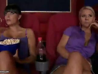 Nasty girls enjoying sex in cinema