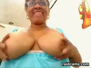 Big Mature Woman Shows Off Her Pussy