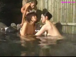 Asian girl getting her pussy licked fingered by 2 girls in t