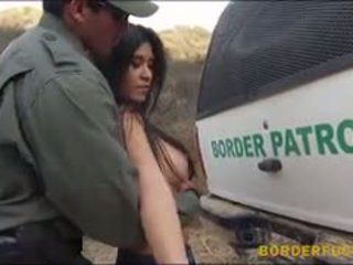 Busty Latina Gets Her Twat Pounded By Border Patrol Agent