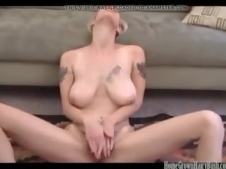 Busty Blonde Amateur Masturbates and Toys Her Hairy...