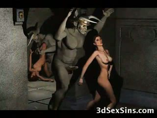 Tatlong-dimensiyonal demons magkantot Mainit babes!
