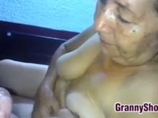 granny, blowjob, latin, pov