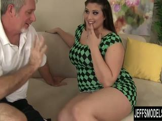 brunette, mollig klem, doggystyle video-