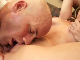 Lucky Dude Licks Babe& 039 S Huge Bazookas and Cunt.