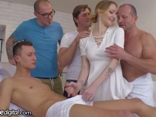 DogHouse 5 Cocks for Belle Claire's Hungry Czech Pussy