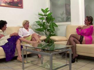 lesbians, grannies scene, matures