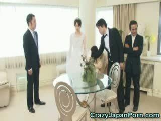 Hipnotizada noiva throated por o groomsman!