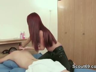 Step-Sister seduce brother to fuck her with massage