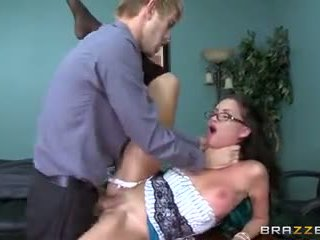 Brazzers - Hot Secretary Raven Bay gets pounded
