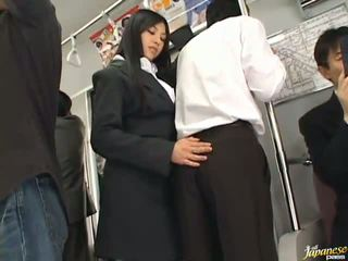 Saori Hara The Thai Stunner Gives A Lick In The Subway