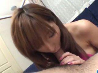 Serina Hayakawa engufling a big dong in sloppy manners