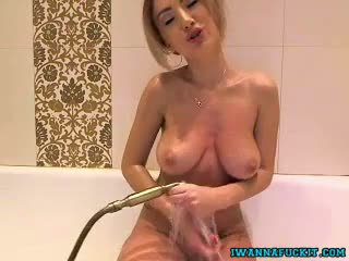 Busty Tit Blonde Wet Tshirt In The Shower