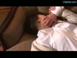 Asiatico ragazza getting rapped licked forzato a succhiare cazzo da 2 gu