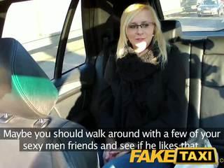 Faketaxi seksi muda rambut pirang di payback balas dendam
