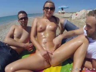 more beach hq, hottest babe fun, fingering fresh