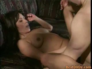 brunette actie, orale seks, oraal film