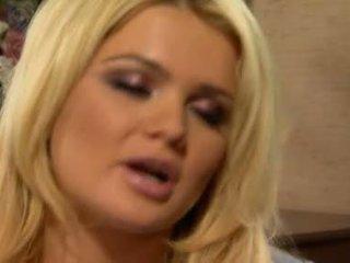 svaigs blondīnes vairāk, blowjob action, jauks cock nepieredzējis jums