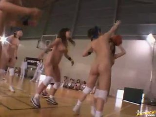 Naked amateur asian schoolgirls playing basketball