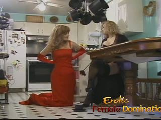 Two Raunchy Sluts Have some Lesbian Fun in the Kitchen