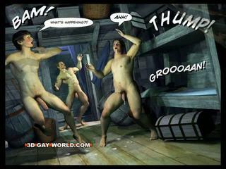 Adventures ของ cabin b-y ทรีดี เกย์ โลก comics