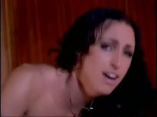 Chunky boobed Rhiannon Bray gets her pusst thumped from behind