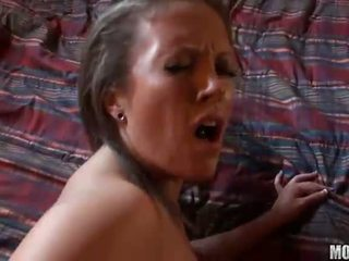 Carmen Valentina amateur brunette with natural tits fucking hard
