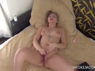 Eurobabe Haley Hill gets Her First Massive Creampie...