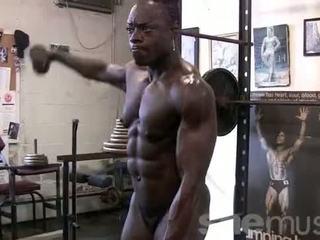vol gespierd video-, ideaal vrouwen porno, spieren klem