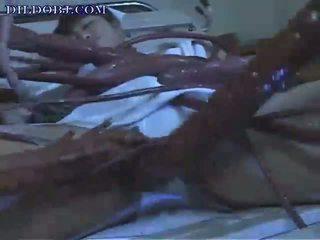 alien tentacles attack a nurse