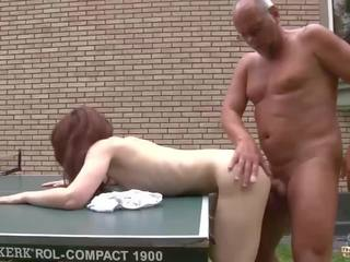 Young Girl Fucked by Old Man in Her Wet Pussy and...