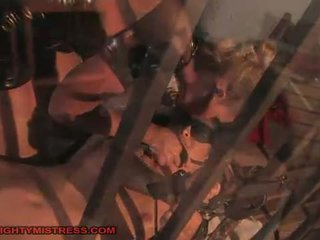 kwaliteit bdsm video-, hogtied film, slavernij seks
