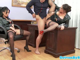 Office Trio Babe Cleansup Cum after Mff Trio: Free Porn e4