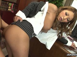 Super Hot Asian Secretary Getting Her Pussy Fucked.